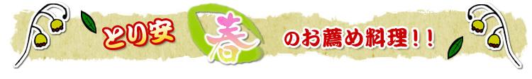 とり安春のお薦め料理!!